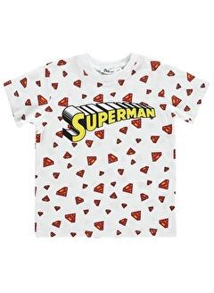 Superman Superman Erkek Çocuk Tişört 2-5 Yaş Beyaz Superman Erkek Çocuk Tişört 2-5 Yaş Beyaz
